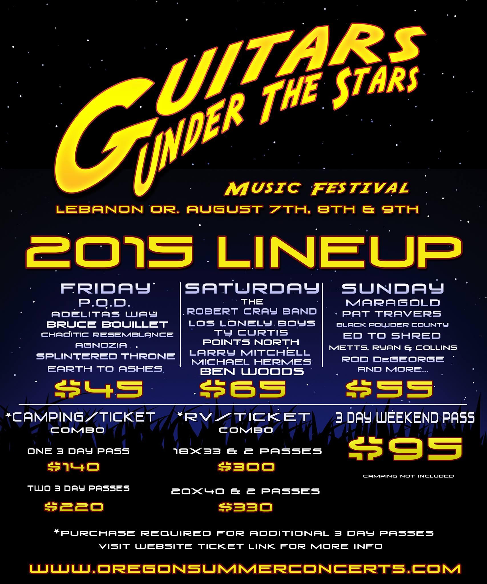 Guitars Under the Stars 2015