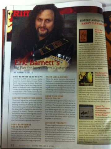 Guitar Player Magazine August 2012